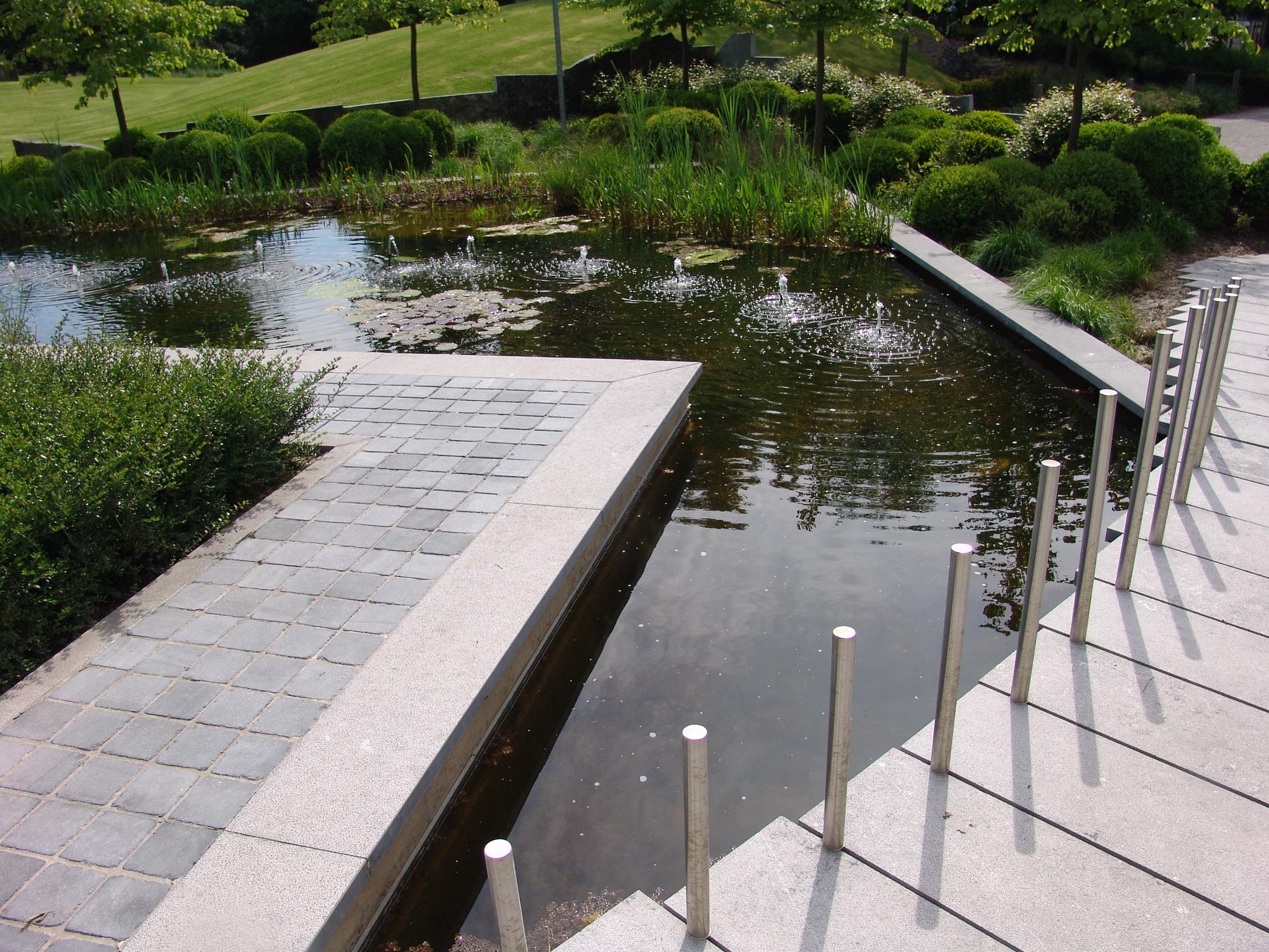 Les plans en ligne pour vos projets de terrasses acc s parkings jardins voiries abords - Bassin jardin japonais grenoble ...