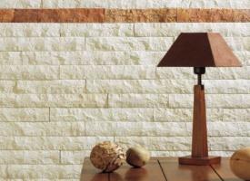 lamelle parement mural en pierre naturelle blanche et. Black Bedroom Furniture Sets. Home Design Ideas