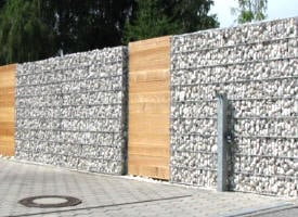 palissade gabion construction maison b ton arm. Black Bedroom Furniture Sets. Home Design Ideas