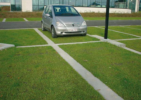 Dalle herbe pour parking