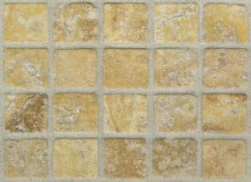 Mosaique travertin Yellow jaune vieilli 23x23