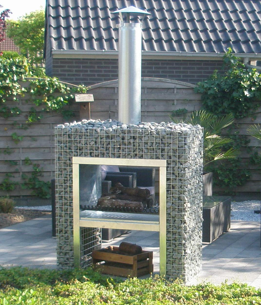Barbecues en gabion pierre et sol fournisseur et n goce online - Comment fabriquer un gabion ...