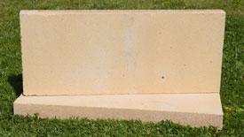 Brique réfractaire vieux jaune beige nuancé