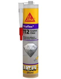 SikaFlex 112 Crystal Clear - Mastic-colle de montage transparente - Sika
