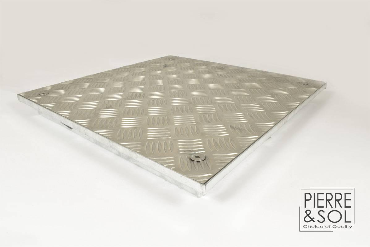 Cadre en acier galvanisé et couvercle en aluminium étanche