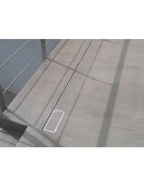 Gutter slotted aluminum SideDrain LOW EURO - L&S