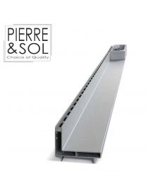Slot channel drain in aluminum - Side Line EURO - L&S