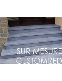 Threshold and standard support in stone blue Belgian custom