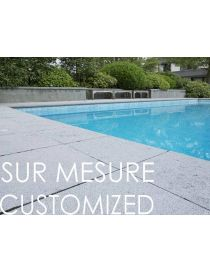 Pool coping - Belgian Bluestone - CUSTOMIZED