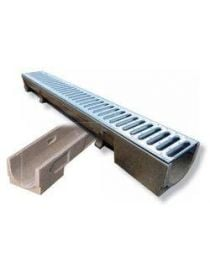 Gutter Standard with galvanized grid - H 11 cm