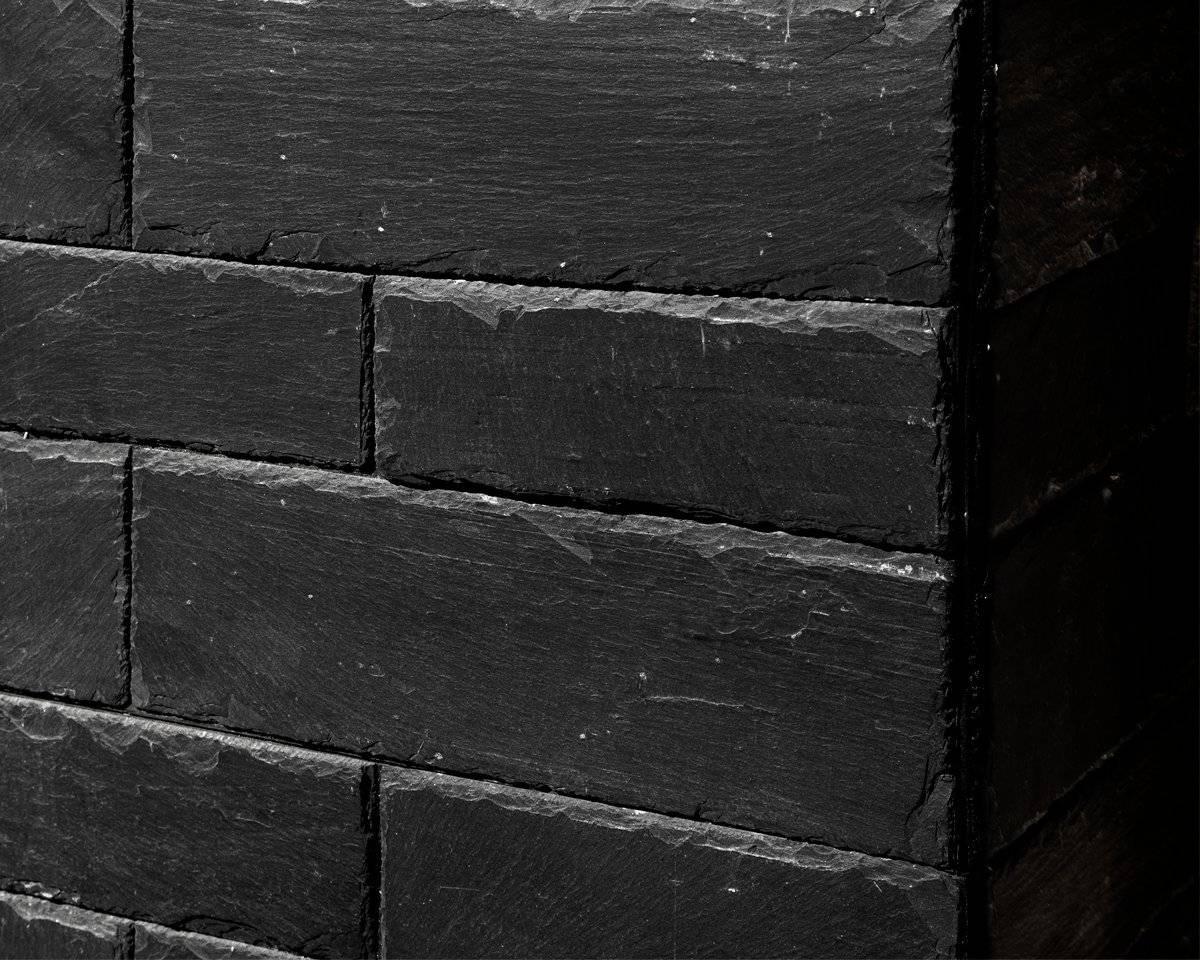 Plaquette Pierre Naturelle Ardoise stonetack - panneau autoadhésif en ardoise naturelle
