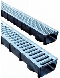 Polypropylene drainage channel - Height 80 mm - Stora-Light