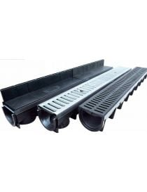 Polypropylene drainage channel - Height 110 mm - Stora-Light