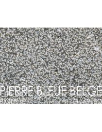 Aspect of the Belgian Pierre Bleue - staining