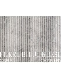 Covers the walls and foundation walls in stone blue Belgian - chiseled