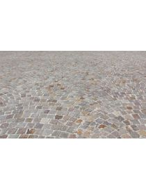 Example of achievement with the pavers in stone of Luserne