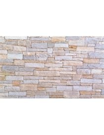 Wall Luserne stone strips - mixed colors