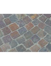 Italian - Red-Brown porphyry cobblestones