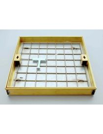 Criticizes tiled brass with neoprene gasket