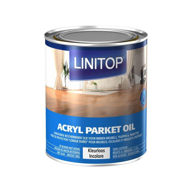 linitop acryl parket oil huile pour parquet incolore tous bois de chez linitop pierre sol. Black Bedroom Furniture Sets. Home Design Ideas