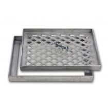Couvercle de pavement en aluminium pour dalles