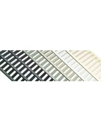 Gutter EUROLINE 100 HARMONY with grid in galvanized steel from ACO