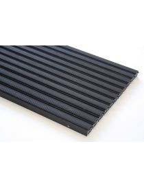 Doormat VARIO GERD, lacquered aluminium profile covered black contoured rubber from ROSCO