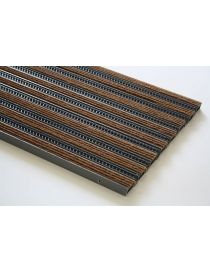 Doormat VARIO NBGO, profile fibres from ROSCO colored nylon and polypropylene covered lacquered aluminium
