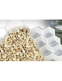 Panels honeycomb extruded polypropylene designed to strengthen and stabilize the gravel.