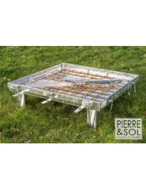 Tileable galvanized access cover with assisted opening - Toptek Assist GS - ACO