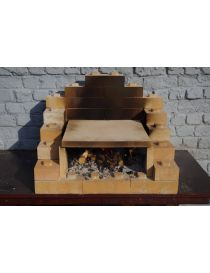 Stonegrill in refractory bricks