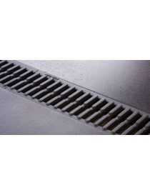 Gutter EUROLINE 100 HARMONY with grid cast from ACO