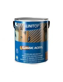 Classic Acryl - Transparent decorative protection stain extract dry - Linitop
