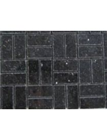 Black granite mosaic